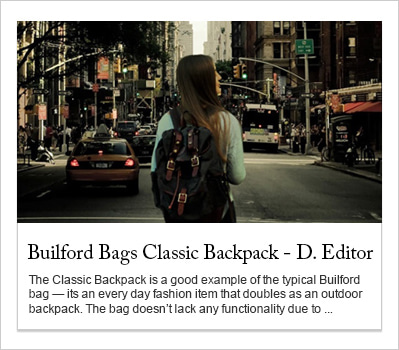 builford classic backpack